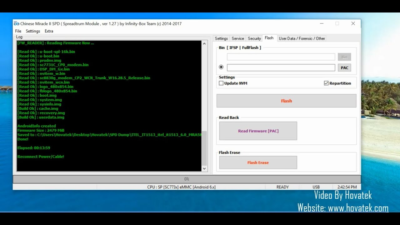 How to use Infinity CM2 SPD to backup Spreadtrum firmware - YouTube