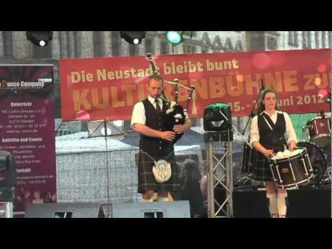 Dresden Bagpipes & Band zur BRN - Bunte Republik Neustadt 2012 Travel Video