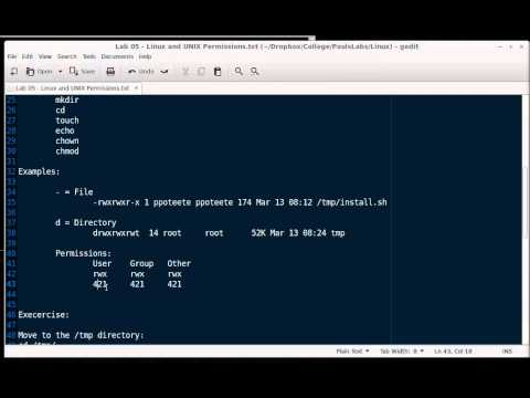 Linux Lab 05 - UNIX and Linux File Permissions