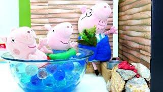 Свинка Пеппа онлайн - Мягкие игрушки - Свинки в сауне