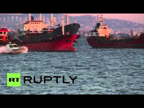 Turkey: Russian ships wait hours to cross Bosphorus Strait