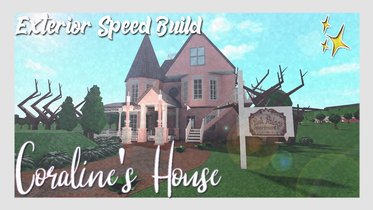 Welcome To Bloxburg Coraline S House Speed Build Exterior Youtube
