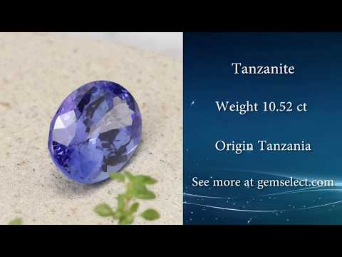 10ct Rich Violet Blue Tanzanite Gem - GemSelect Video Review