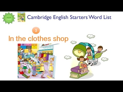 Cambridge English Starters Word List: IN THE CLOTHES SHOP Từ vựng tiếng Anh Cambridge