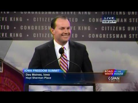 • Sen. Mike Lee • Iowa Freedom Summit • 1/24/15 •