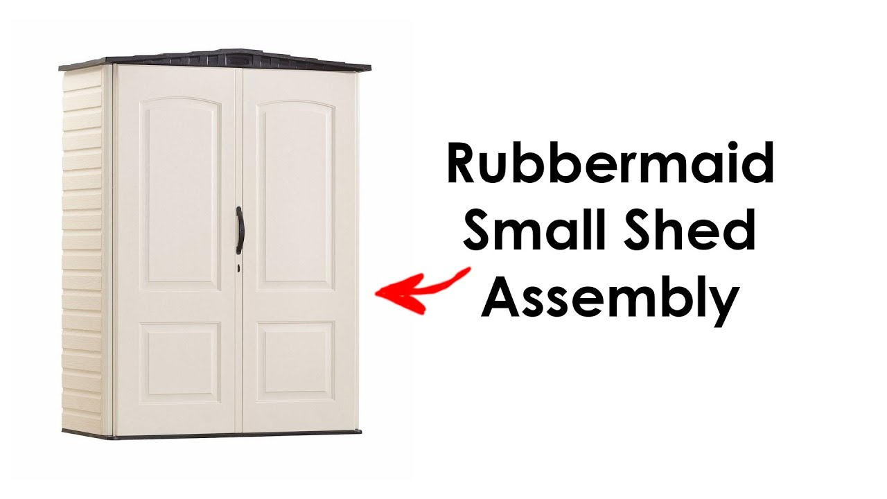 Rubbermaid Small Shed Embly 52 Cu