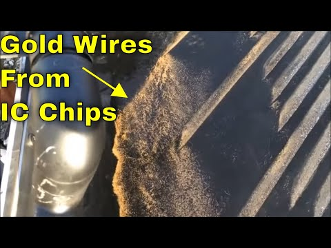 MBMMLLC.com: **NO chemicals** free gold recovery from incinerated IC Chips with a shaker table