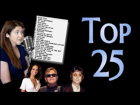 Aimee's Top 25 Pop/Soul/Rock Songs