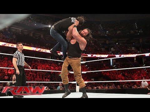 Dean Ambrose vs. Braun Strowman: Raw, Aug. 31, 2015