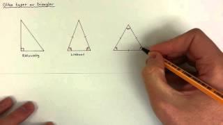 7 - Geometri - Olika typer av trianglar