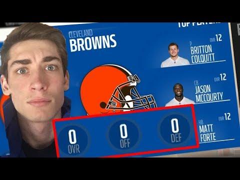 The Hardest Rebuild on Madden 18! Rebuilding a 0 Overall Team! Madden 18 Cleveland Browns Rebuild
