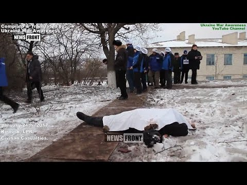 [18+] Civilian Casualties of Jan 25, 2017 in Lugansk, Ukraine War.