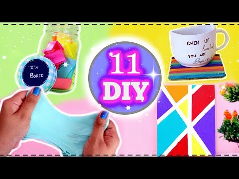 5 Minute Crafts To Do When You're BORED!! 11 Fun DIYs Easy And Quick.