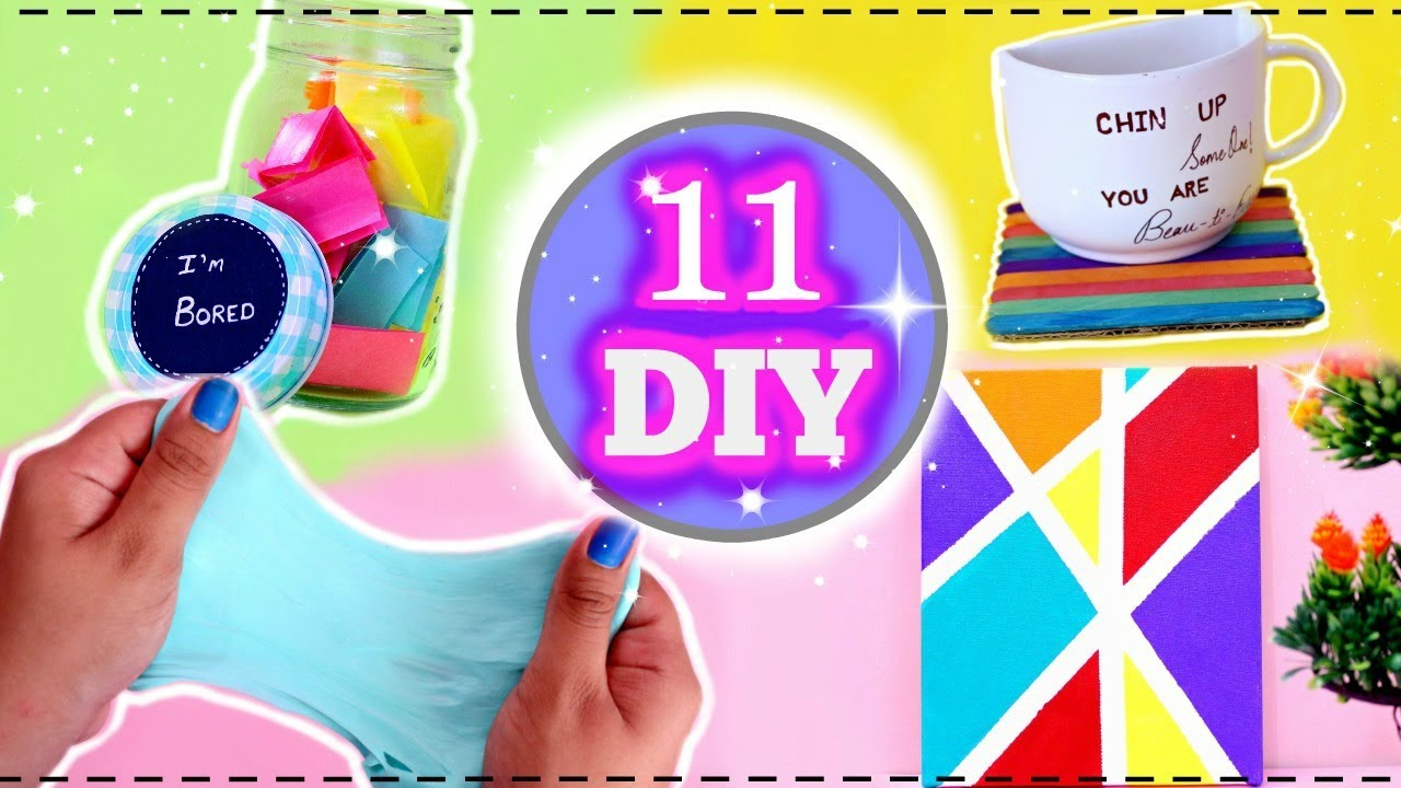 5 Minute Crafts To Do When Youre BORED 11 Fun DIYs Easy And Quick