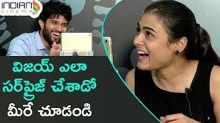 Vijay Devarakonda Surprises Shalini | Arjun Reddy Latest Telugu Movie | Interview | Indian Cinema