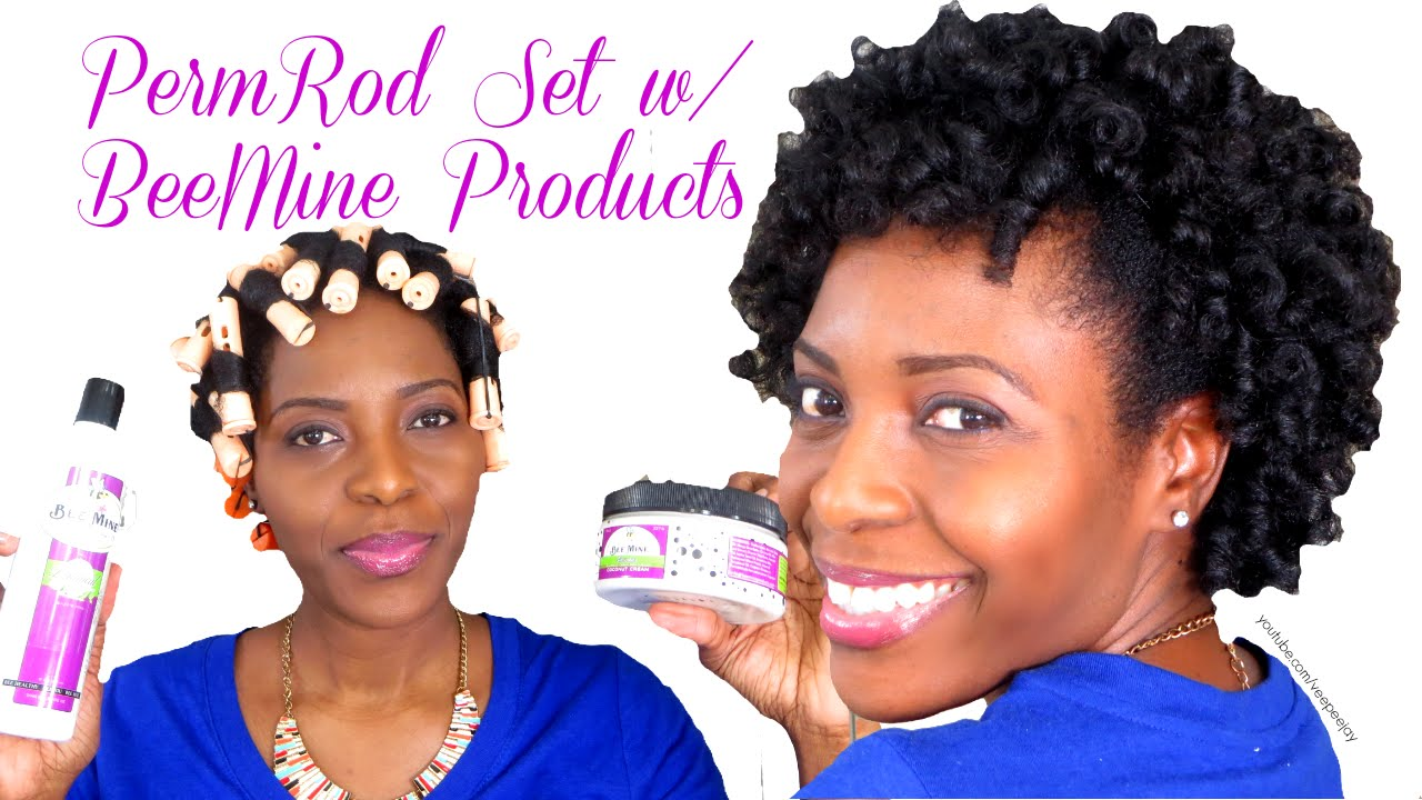 Perm Rod Set On Natural Hair 4b 4c Using Beemine Products Coupon