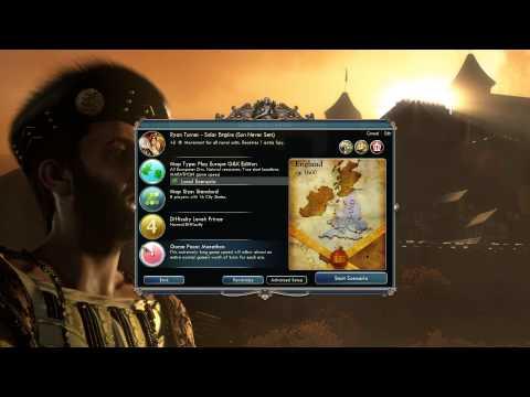 Civilization V Gods and Kings - Civilization Winner and Game Setup!