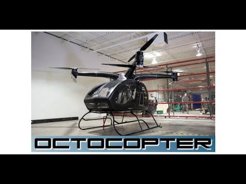 """gasoline electric octocopter with ballistic parachute for safety! """"Surefly"""" : CES 2018"""