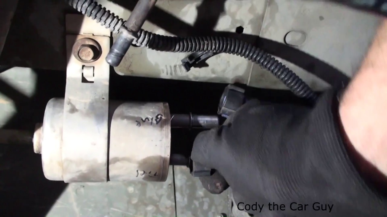 Chevy Cobalt Fuel filter location and replacement simple and easy - YouTubeYouTube