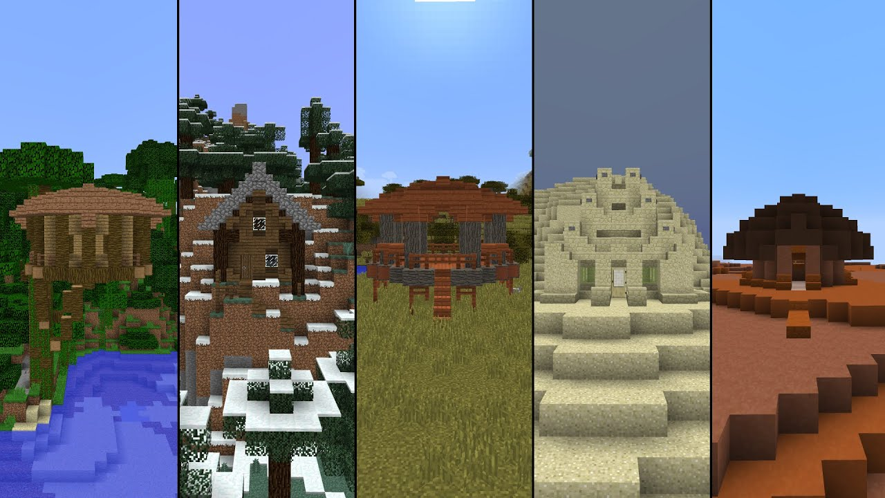 5 Starter Houses In Minecraft! YouTube
