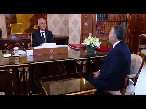 رئيس الجمهورية يستقبل كاتب الدولة المكلّف بتسيير وزارة الشؤون الخارجية