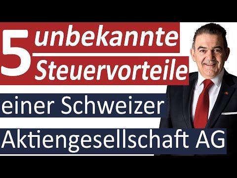 5 unbekannte Steuervorteile einer Schweizer Aktiengesellschaft AG