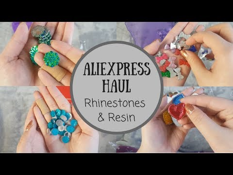 Aliexpress Haul | Rhinestones, Resin & Applique | December 2017
