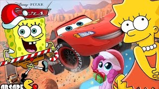 My Little Pony Friendship is Magic, Nick JR Spongebob Move in, Disney Cars, The Simpsons Tapped Out
