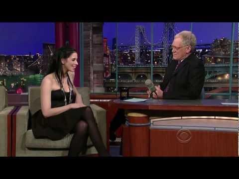 Sarah Silverman on David Letterman