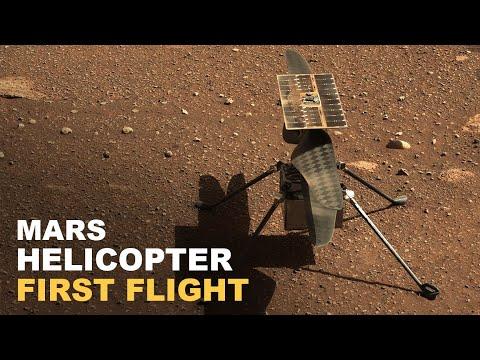 El primer vuelo del helicóptero de la Nasa en Marte