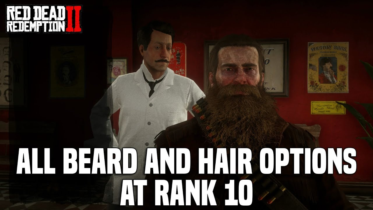 Red Dead Redemption 2 All Fully Grown Beard And Hair Styles For