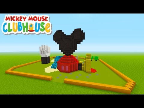 Minecraft Tutorial: How To Make Mickey Mouses Club House!