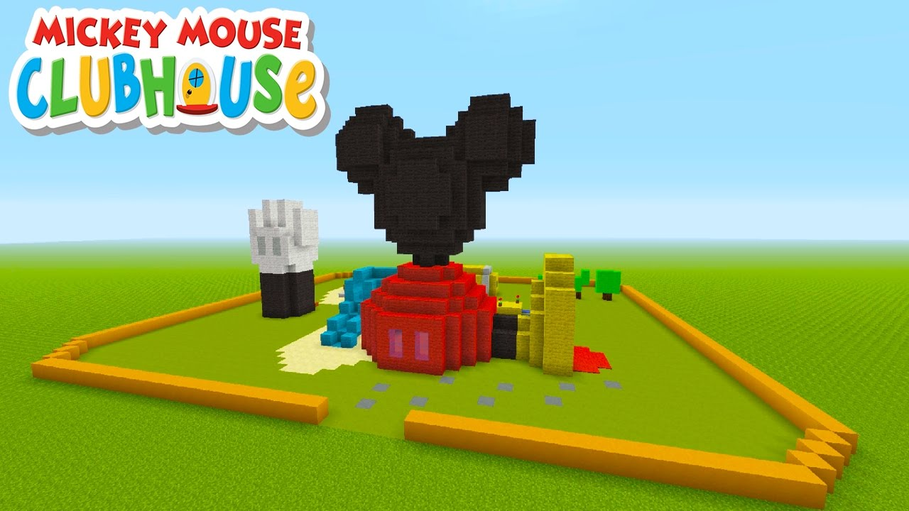 minecraft tutorial how to make mickey mouses club house mickey mouse clubhouse