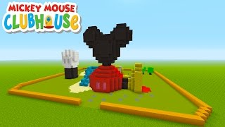"Minecraft Tutorial: How To Make Mickey Mouses Club House! ""Mickey Mouse Clubhouse"""