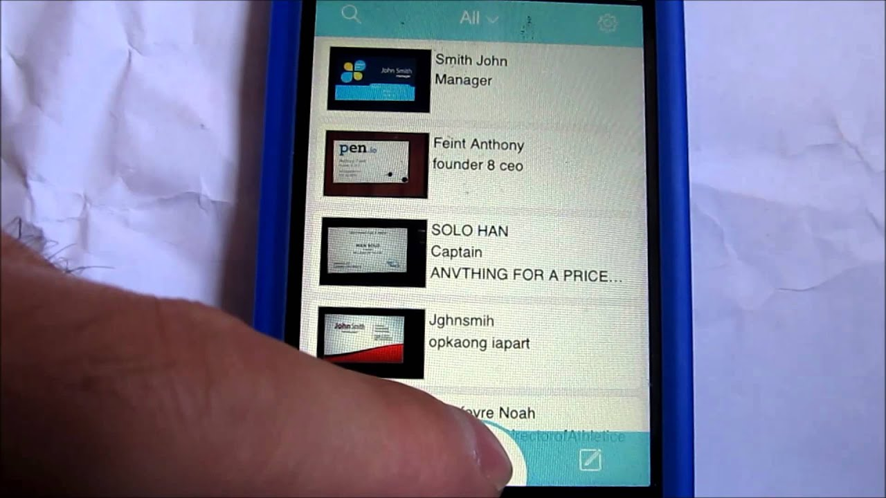 Foxcard iphone app review business card scanner youtube colourmoves
