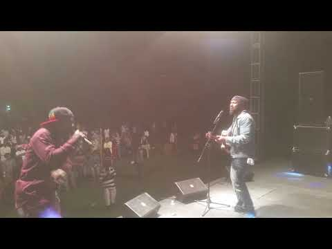 Hezron ft Louie culture performance of Ghetto Heaven at Reggae Life Jamaica Music Festival .