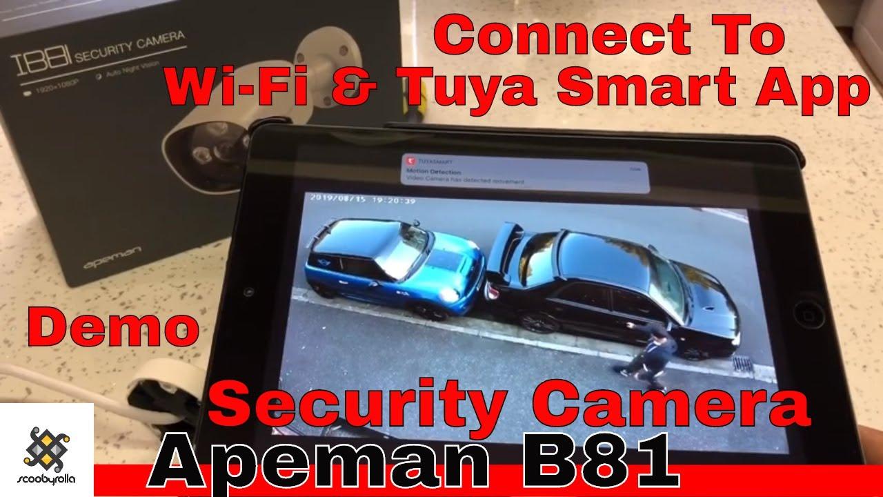 Apeman IB81 How To Connect To WiFi & Tuya Smart app