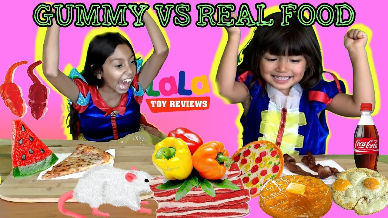 Gummy Food Vs Real Food Youtube