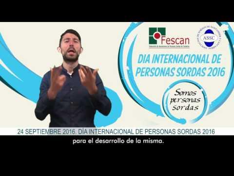 Santander en el Día de las Personas Sordas 2016