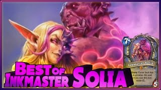 Hearthstone - Best of Inkmaster Solia - Funny and lucky Rng Moments