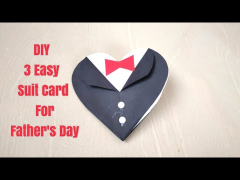 DIY 3 Suit-Tuxedo Card for Father's Day/Father's Day Greeting Card Ideas