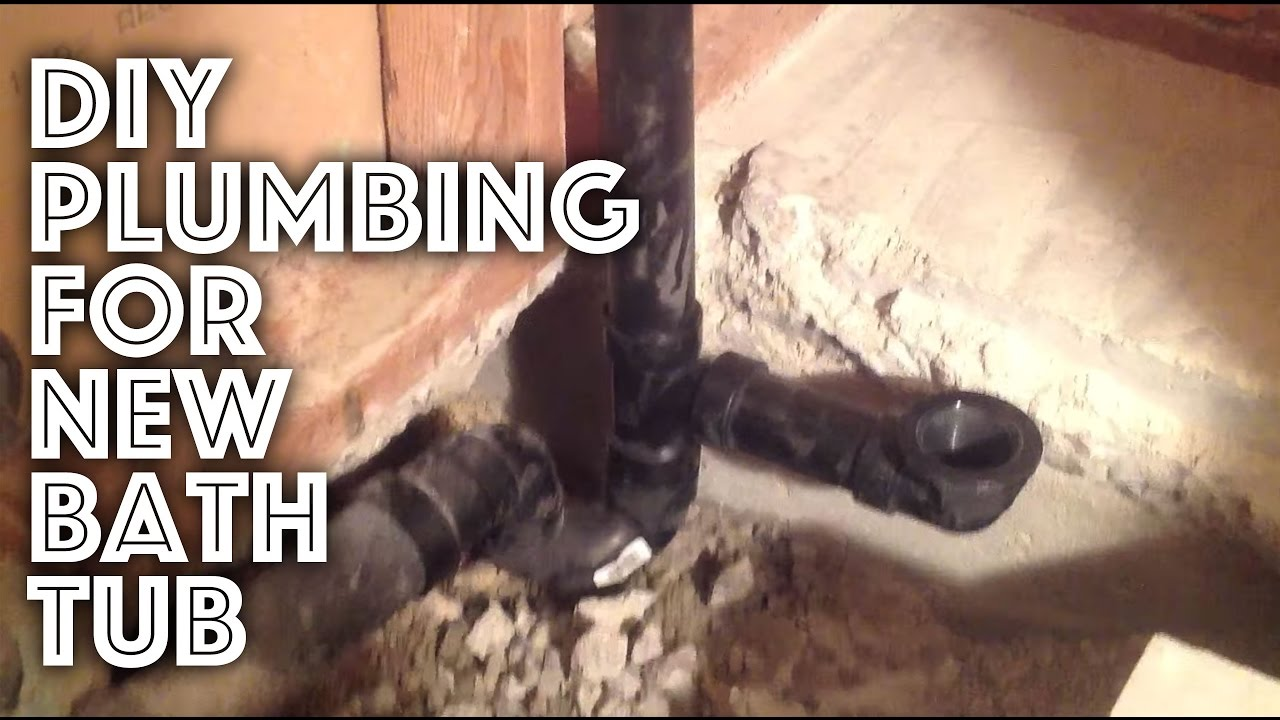 Bathtub Plumbing - New Installation - YouTube