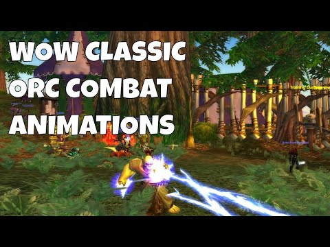 WOW Classic ORC Combat Animations (Melee Combat 1 Hand, 2 Hand And Ranged & Casting Animation)