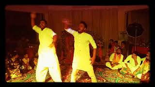 Malhari + Khalibali wedding Dance performance Performd by Haroon Raj and syed Zeeshan