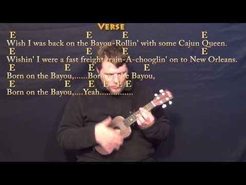 Born on the Bayou (CCR) Ukulele Cover Lesson with Lyrics/Chords
