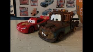Disney Cars Lightning McQueen and Mater with No Tires Review (Mater Monday!)