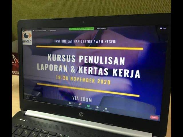 Kursus Online Penulisan Laporan & Kertas Kerja pada 19 - 20 November 2020