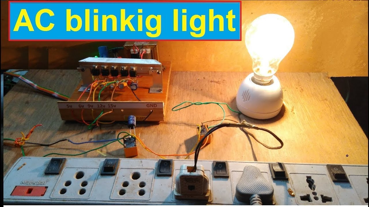 simple single ac oscillator flashing blinking ac lights using dc relays [ 1280 x 720 Pixel ]
