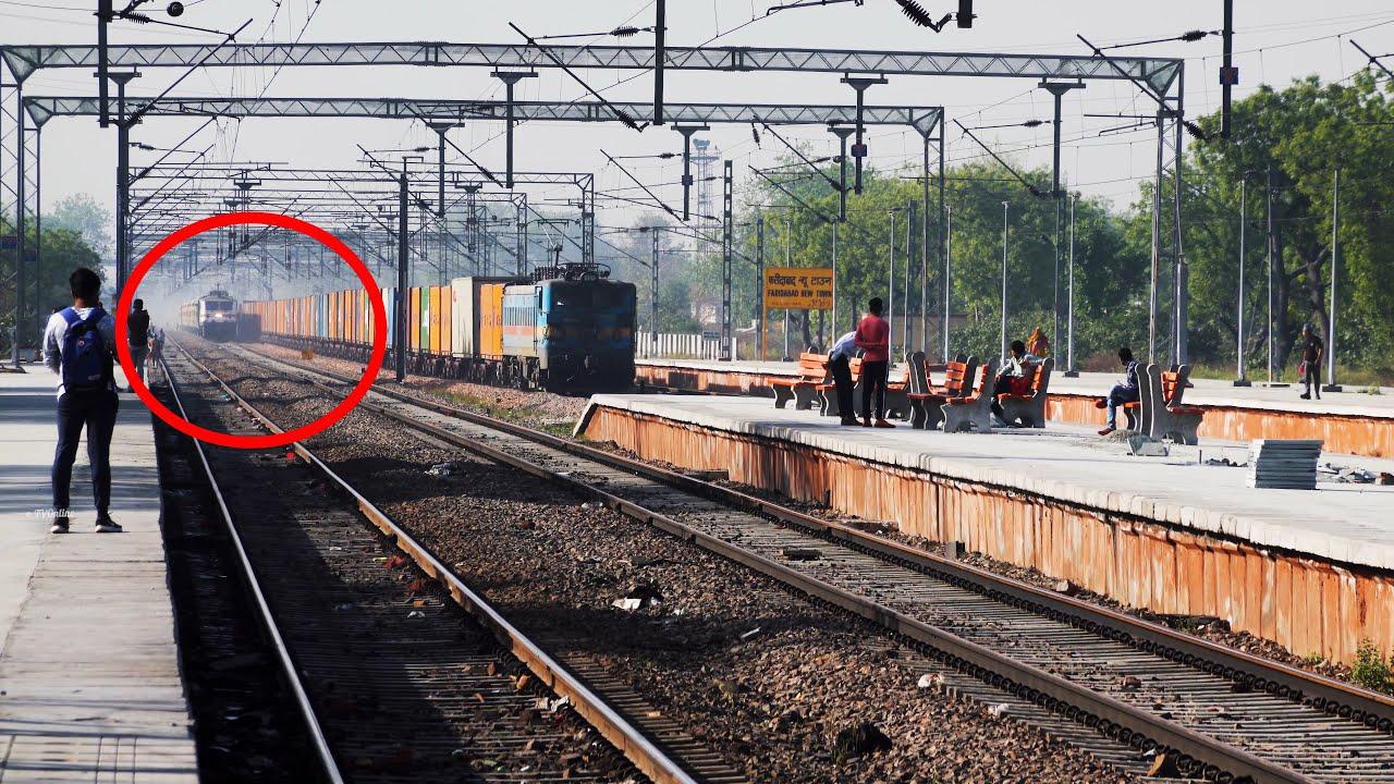 FREIGHT TRAIN Racing YUVA Express | Mewar Express | Indian Railways