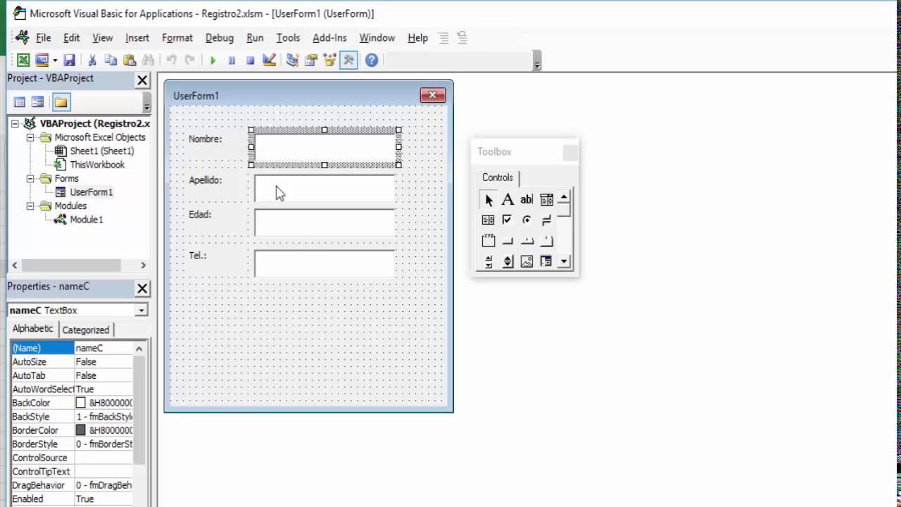 Crear Formulario Y Base De Datos